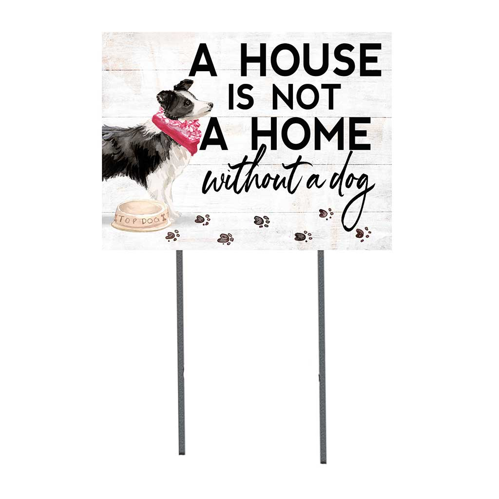 18x24 Border Collie Dog Lawn Sign