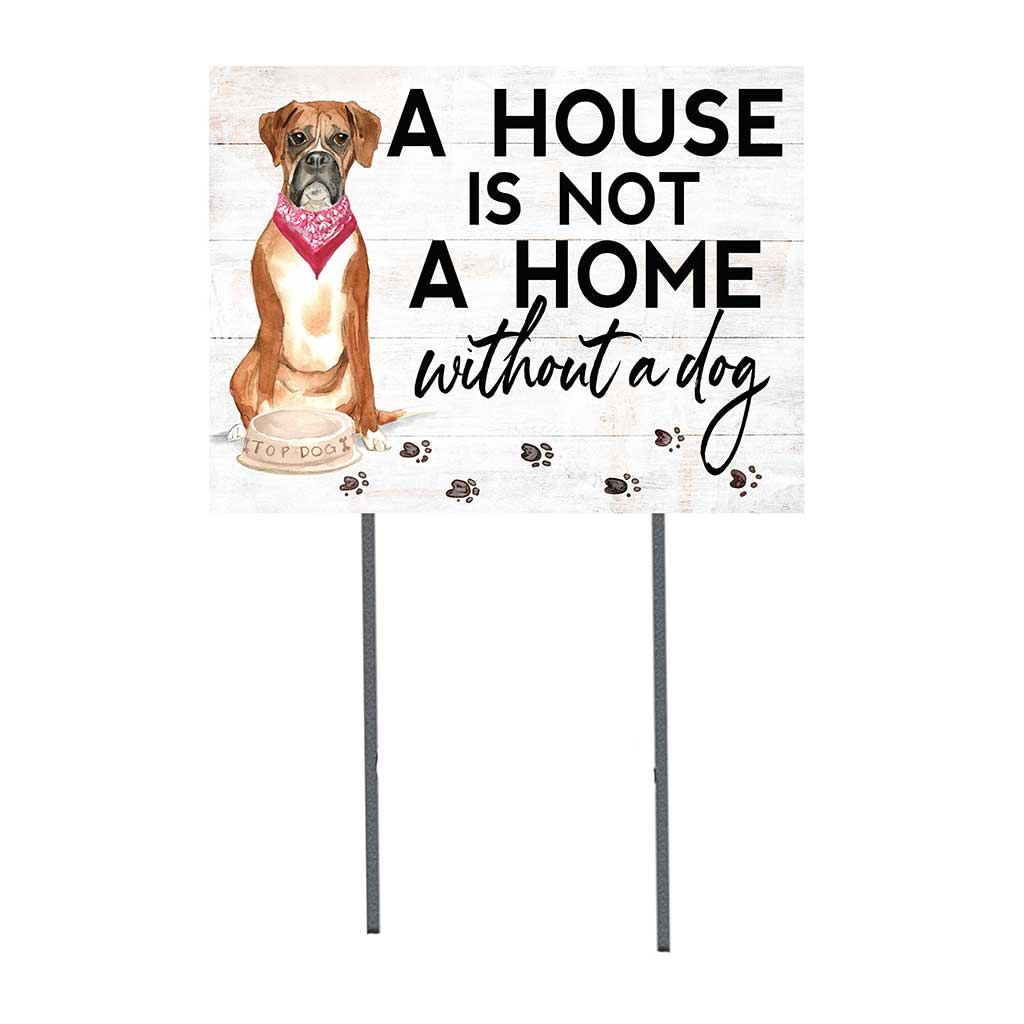 18x24 Boxer Dog Lawn Sign