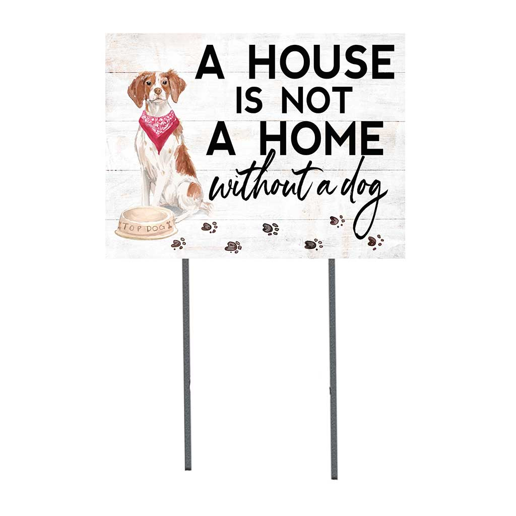 18x24 Brittany Dog Lawn Sign