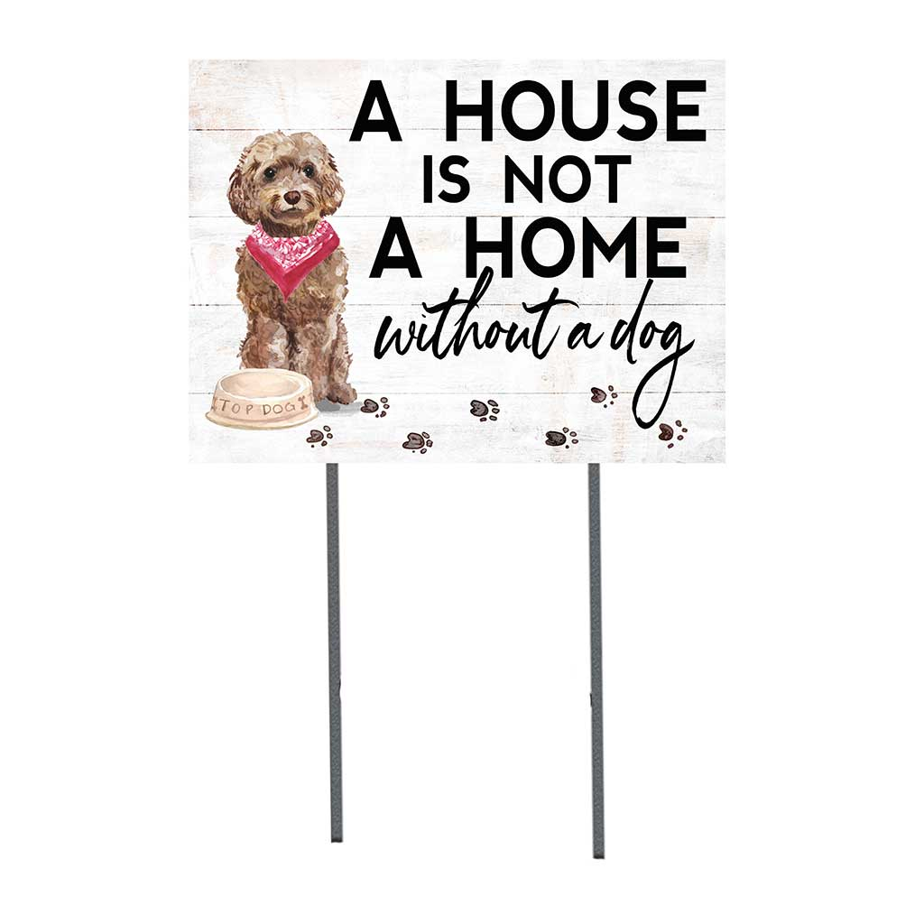 18x24 Brown Cockapoo Dog Lawn Sign
