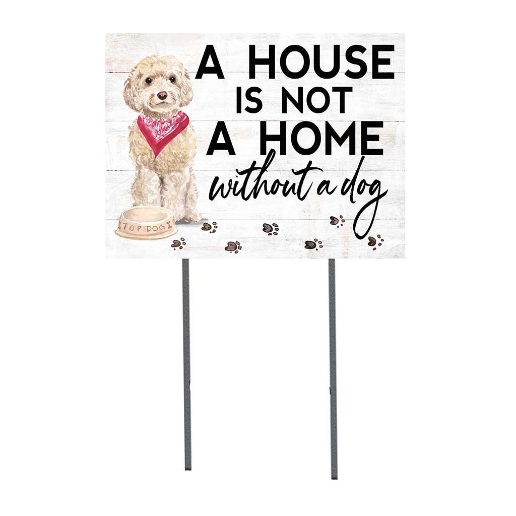 18x24 Champagne Cockapoo Dog Lawn Sign