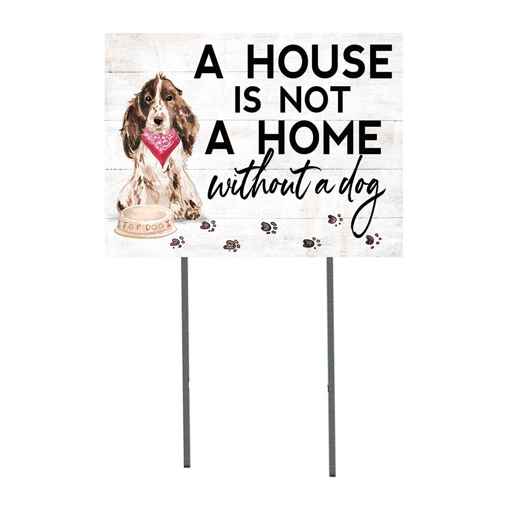 18x24 Brown Cocker Spaniel Dog Lawn Sign