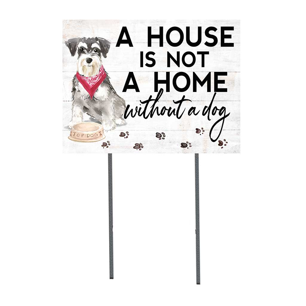 18x24 Miniature Schnauzer Dog Lawn Sign