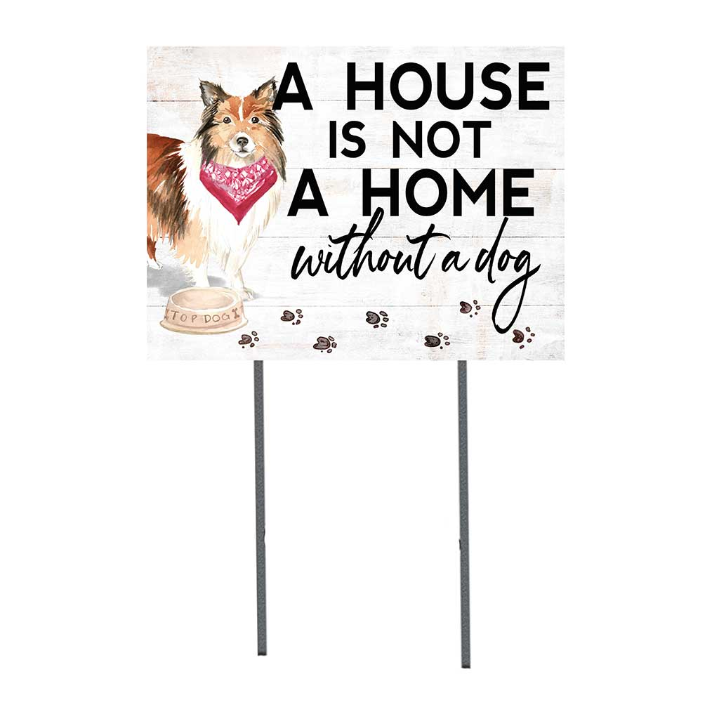 18x24 Shetland Sheepdog Dog Lawn Sign