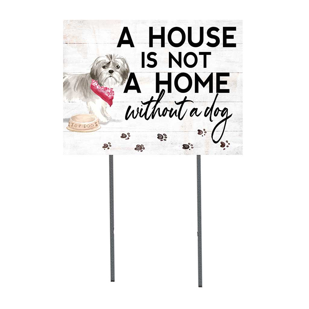 18x24 Shih Tzu Short Hair Dog Lawn Sign