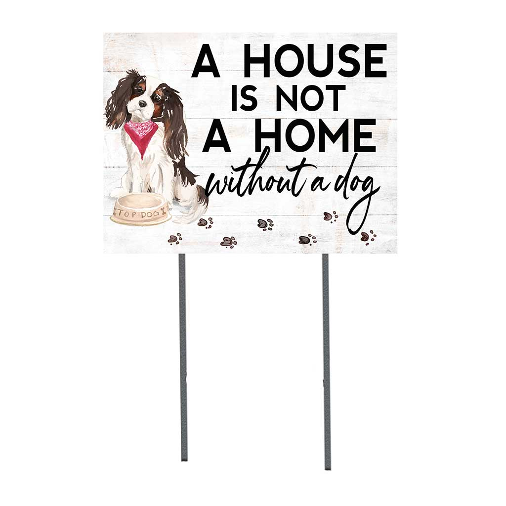 18x24 Tri Color King Charles Spaniel Lawn Sign