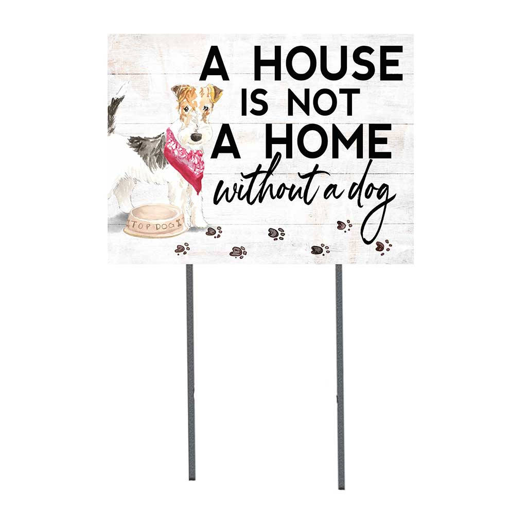18x24 Fox Terrier Dog Lawn Sign