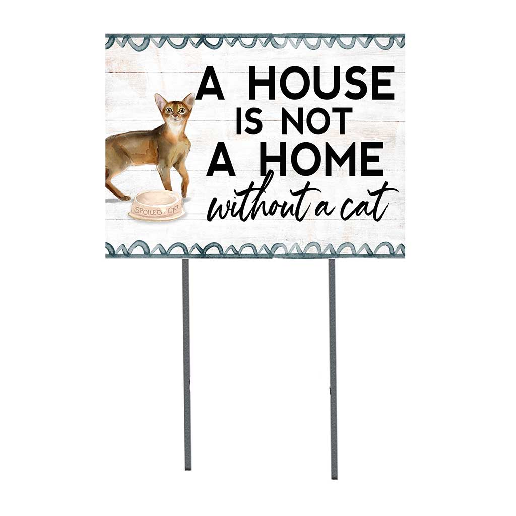 18x24 Abyssinian Cat Lawn Sign