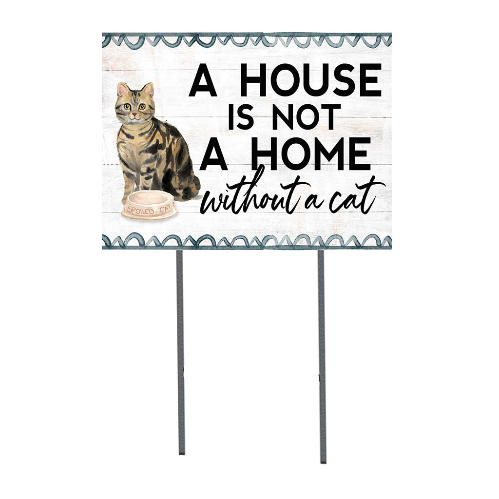 18x24 Brown American Tabby Cat Lawn Sign