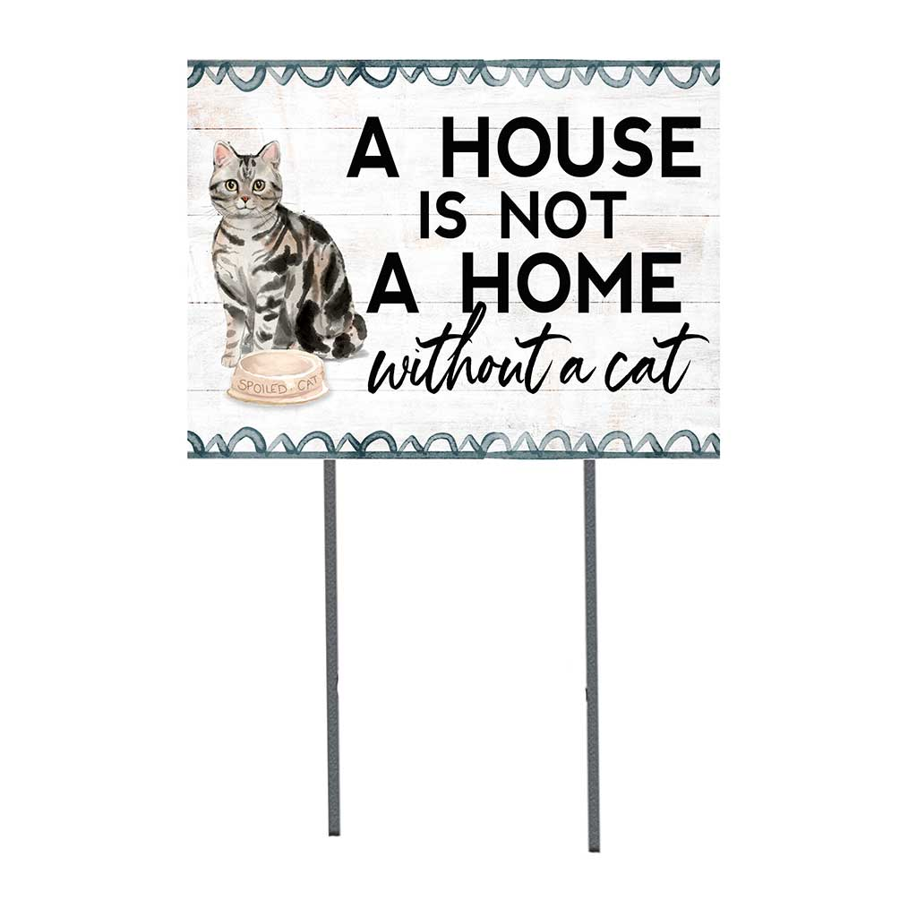 18x24 Silver American Tabby Cat Lawn Sign