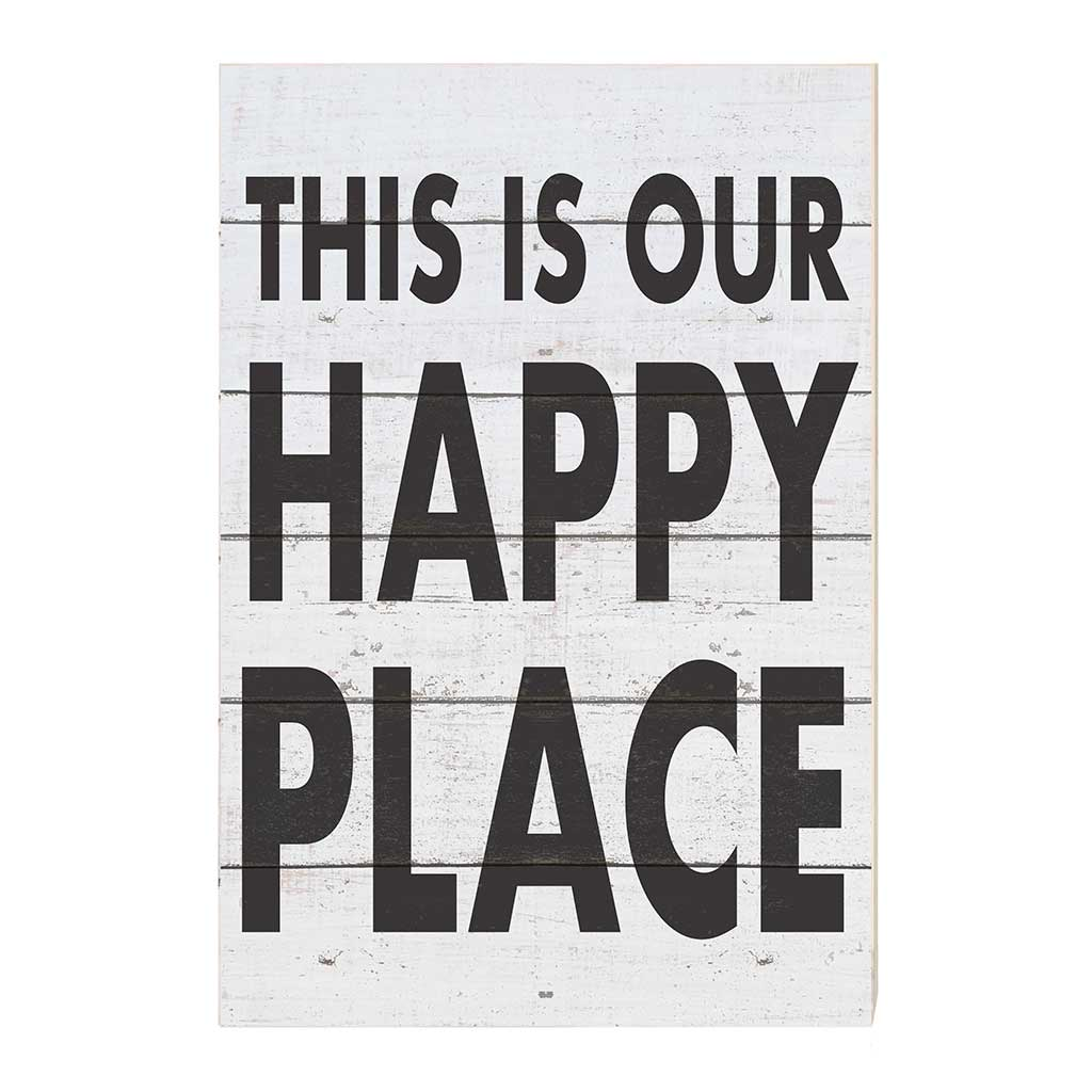 23x34 This Is Happy Place Whitewash Sign