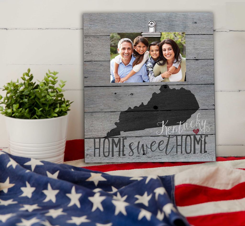 Home Sweet Home Kentucky Weathered Clip Photo Frame