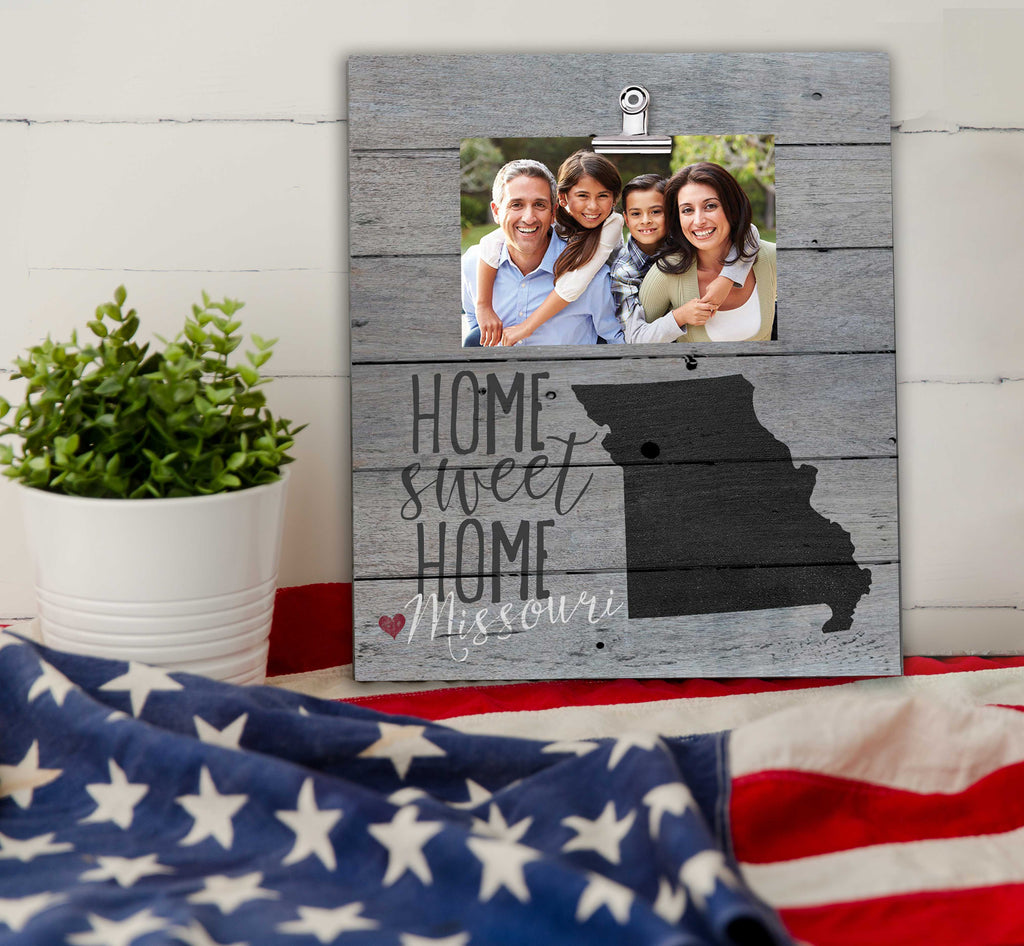 Home Sweet Home Missouri Weathered Clip Photo Frame