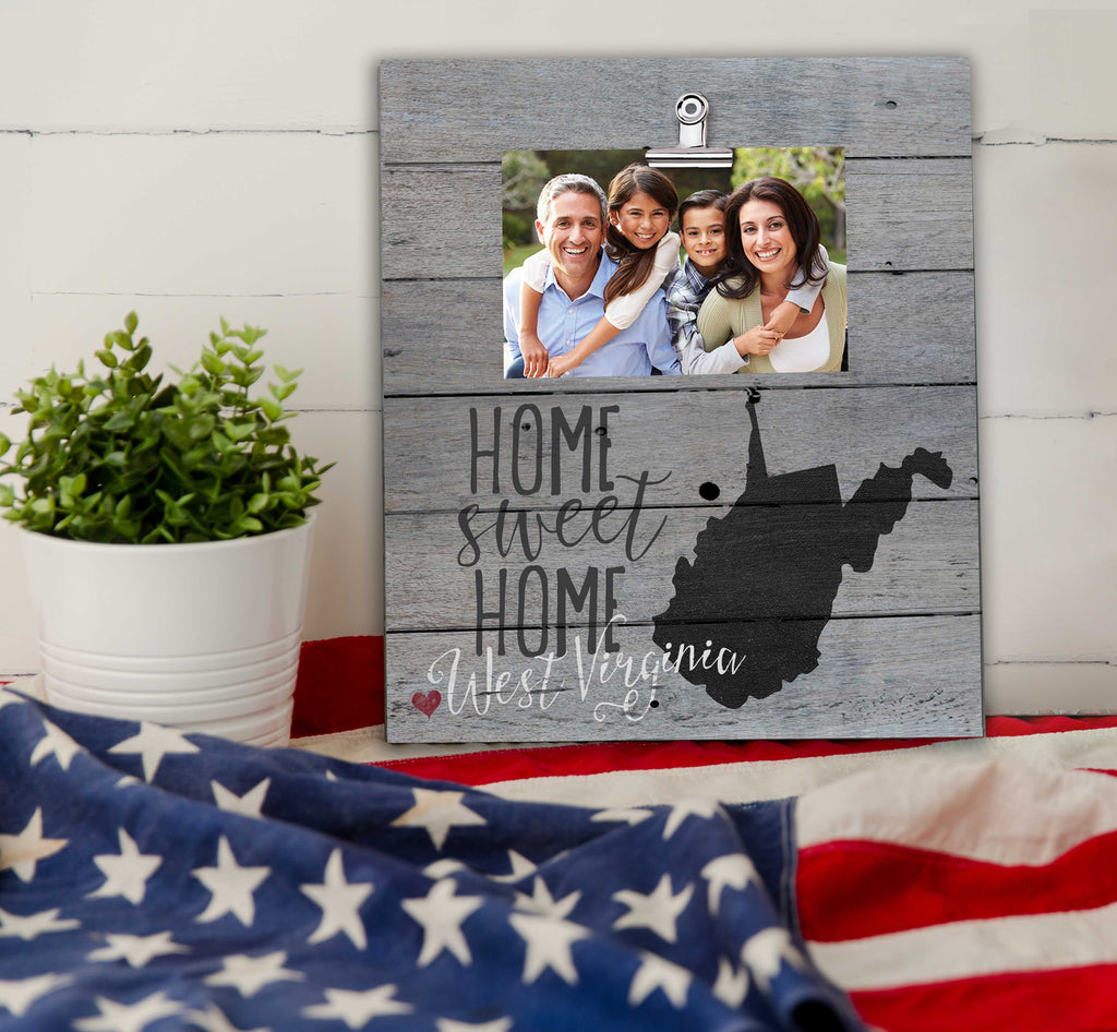 Home Sweet Home West Virginia Weathered Clip Photo Frame