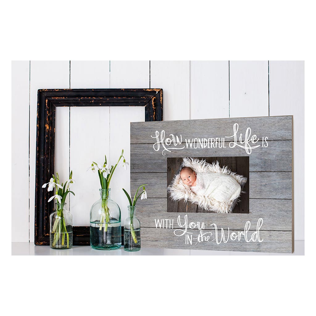 Gray Slat Photo Frame How Wonderful Life
