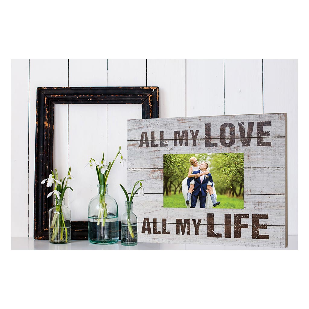 Weathered Whitewash Slat Photo Frame All My Love