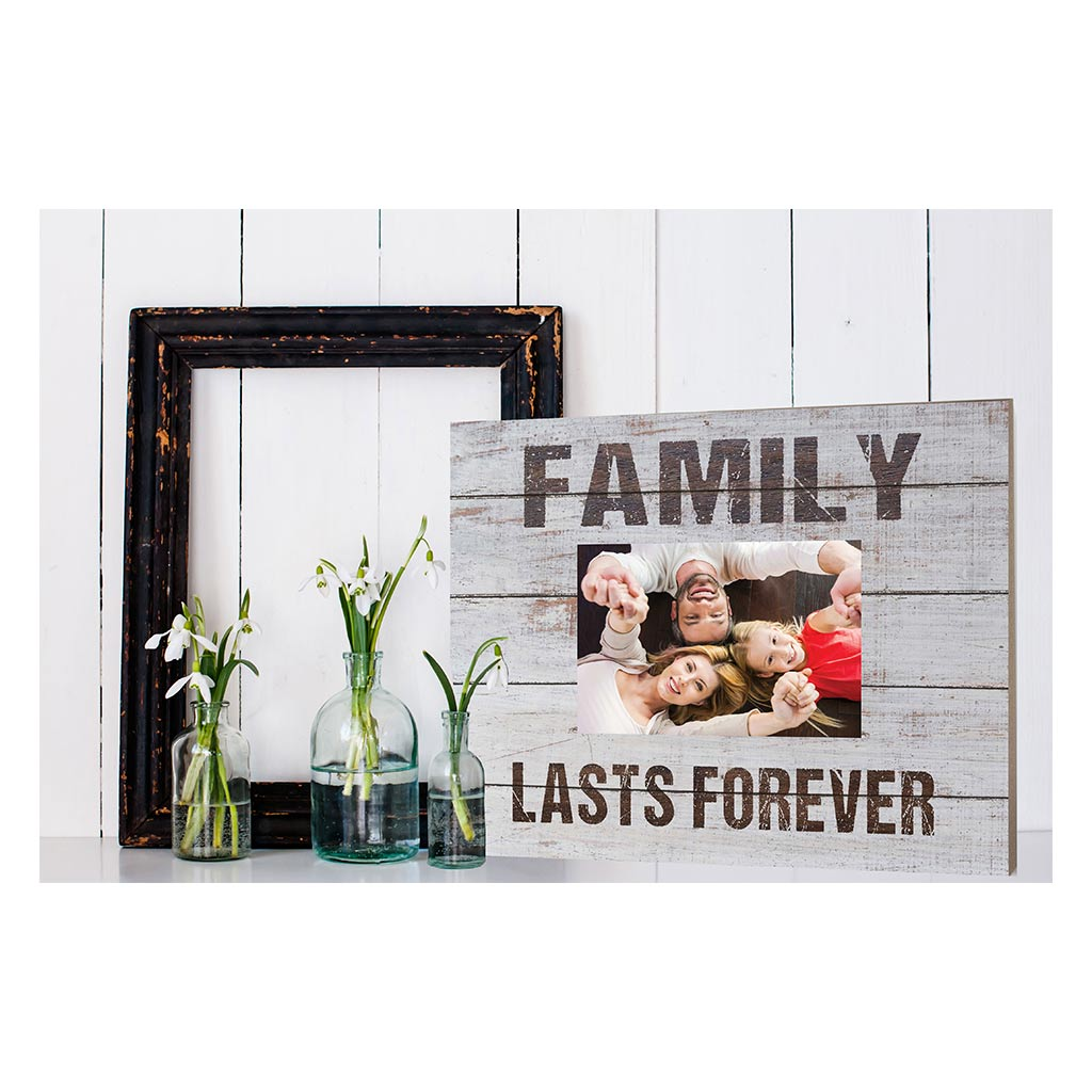 Weathered Whitewash Slat Photo Frame Family Lasts Forever