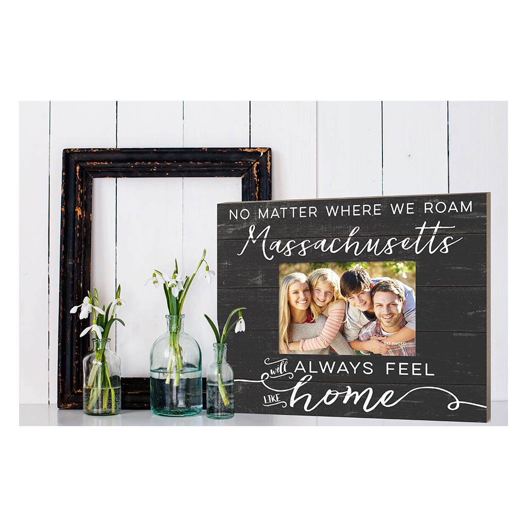 Weathered Charcoal Slat Photo Frame Feels Like Home Massachusetts