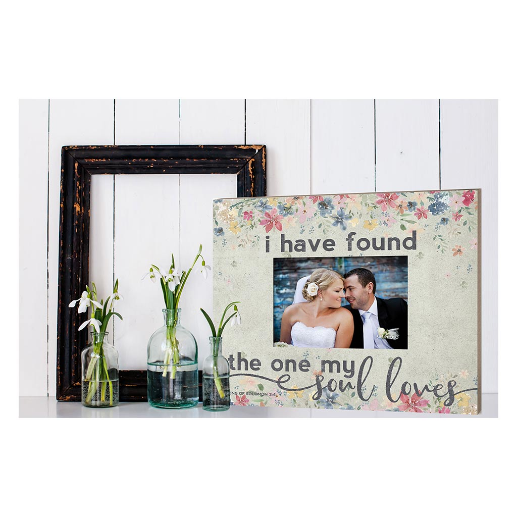 Weathered Floral Photo Frame The One My Soul Loves
