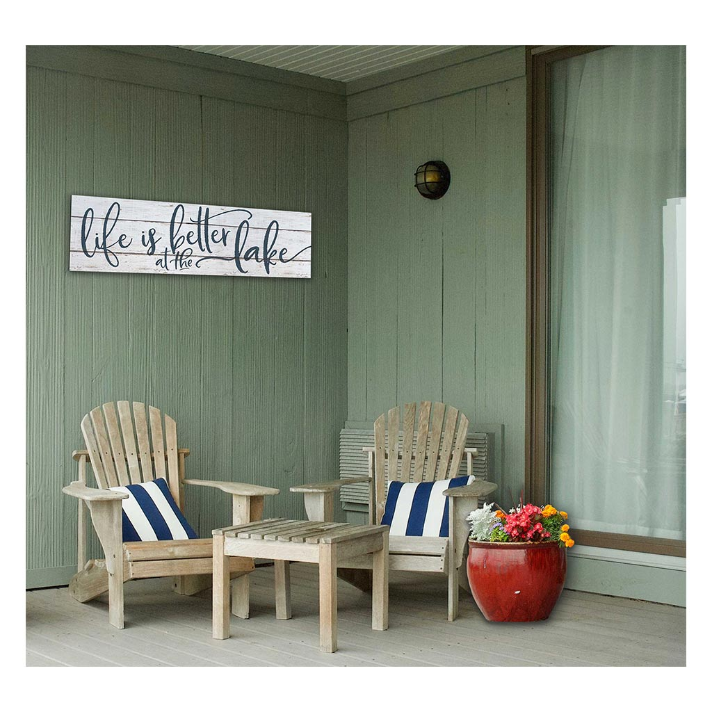35x10 Indoor Outdoor Whitewash Sign Life is Better on Lake
