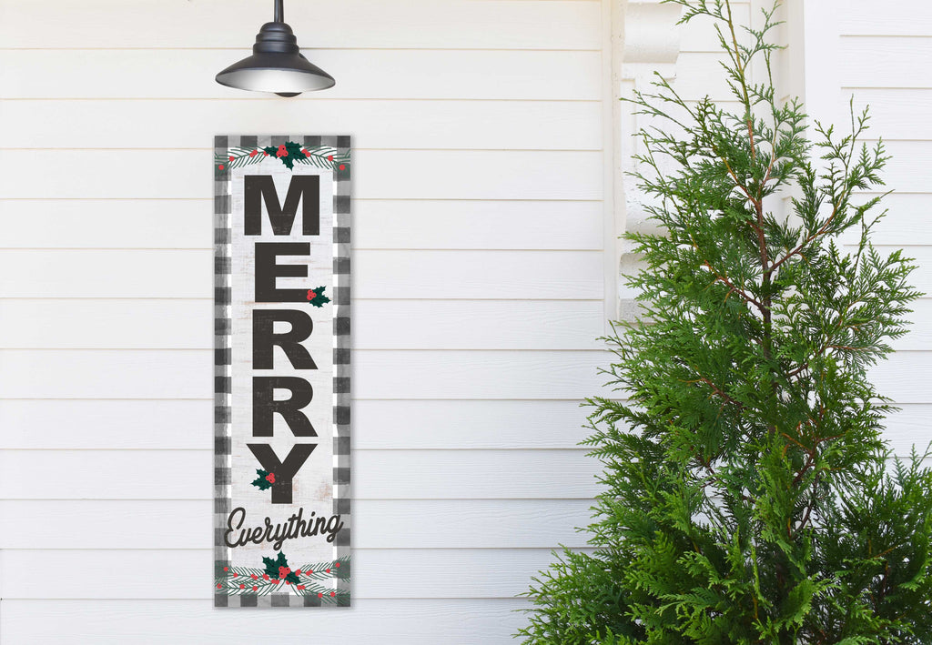 35x10 Indoor Outdoor Black Buffalo Check Sign Merry Everything
