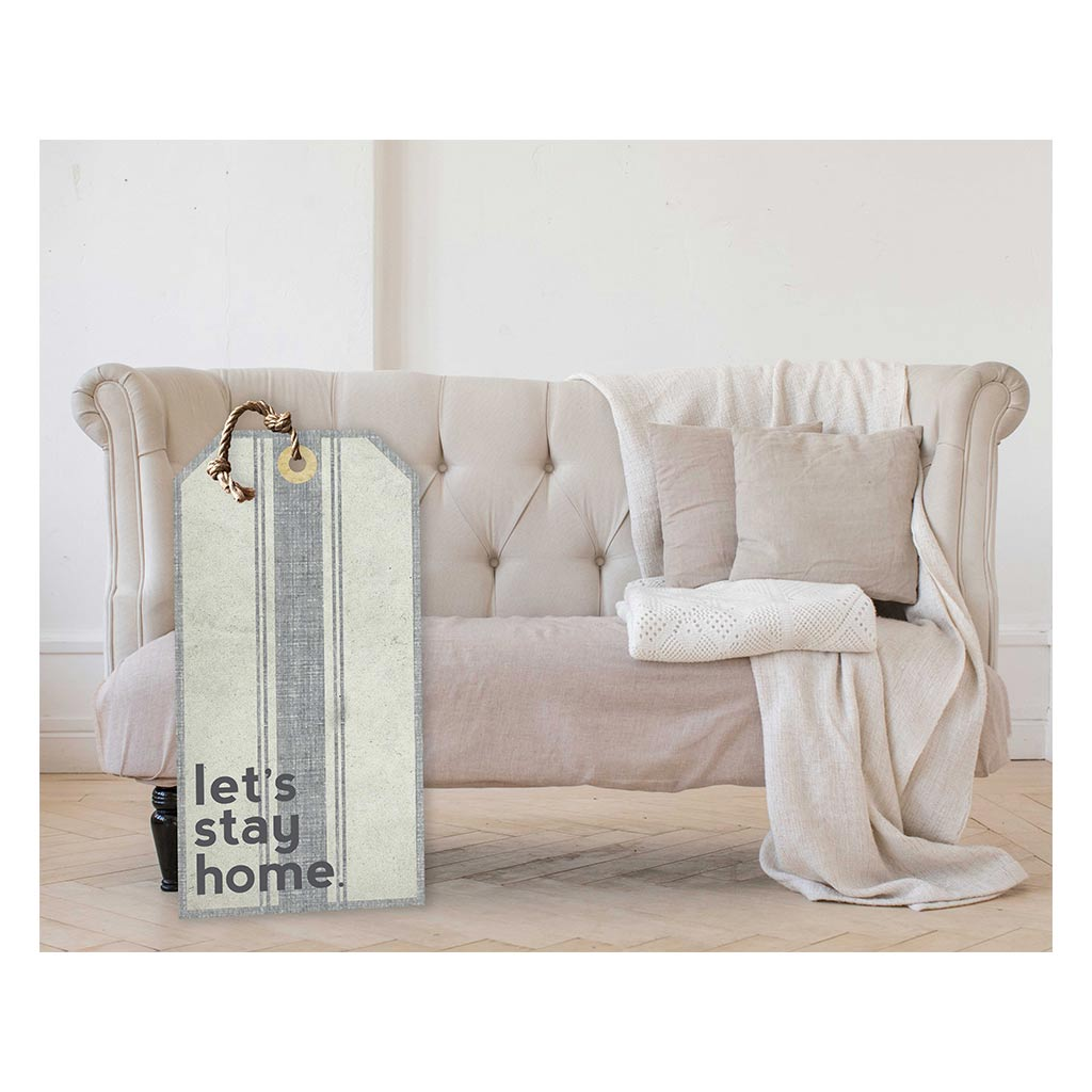 Large Hanging Tag Let's Stay Home