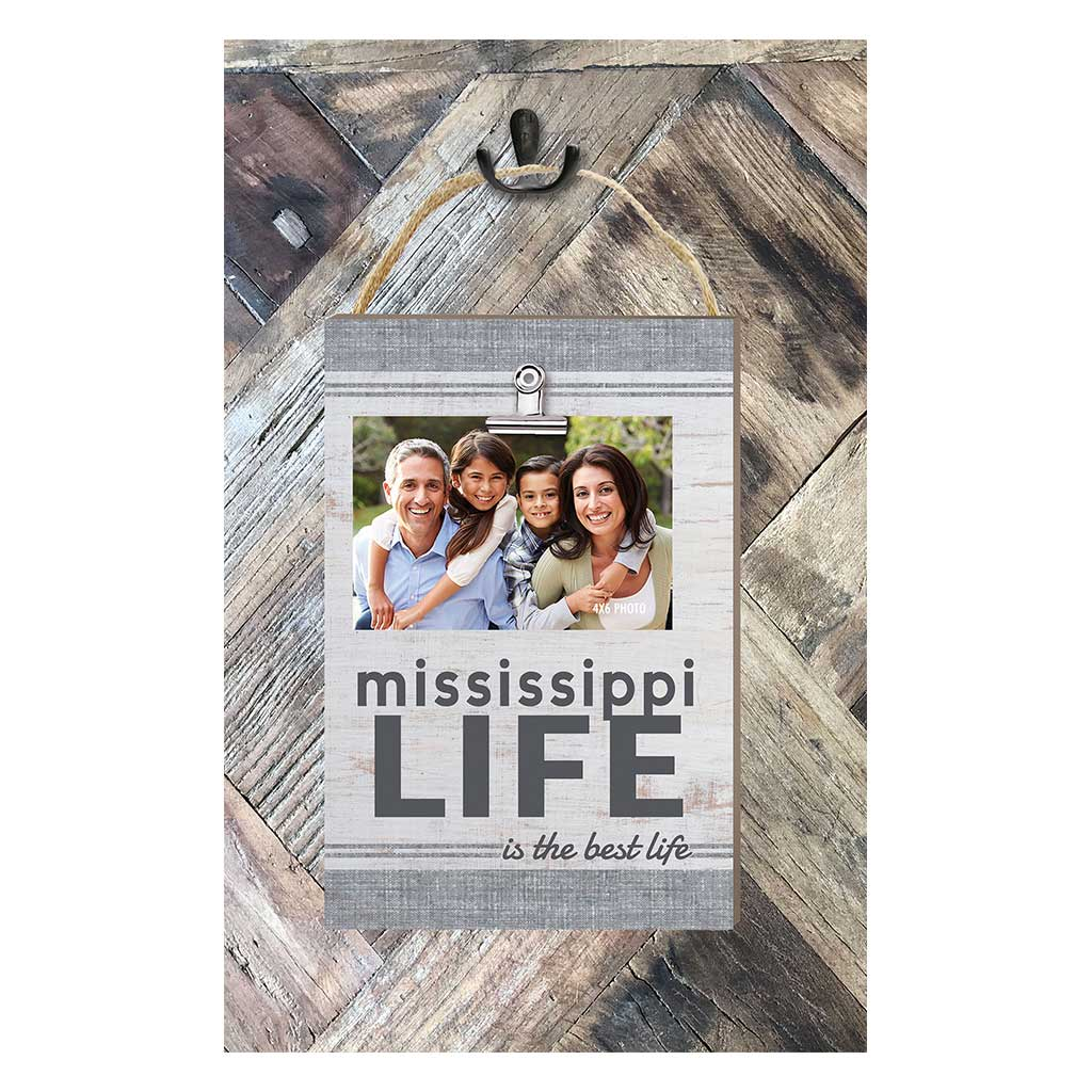 Mississippi Life Hanging Clip Photo Frame