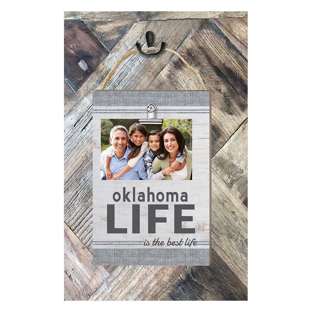 Oklahoma Life Hanging Clip Photo Frame
