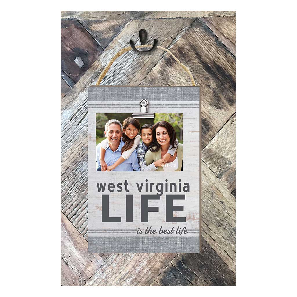 West Virginia Life Hanging Clip Photo Frame