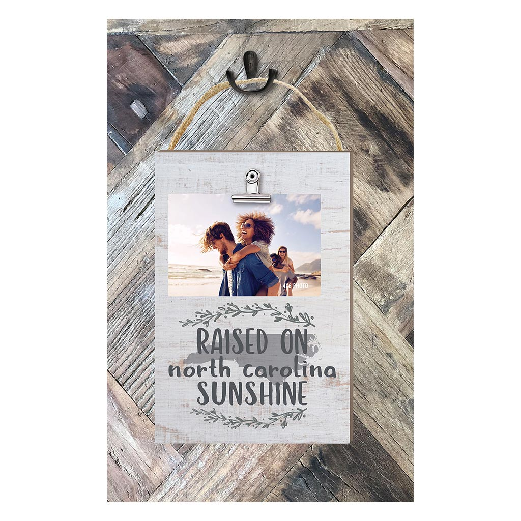 Raised on North Carolina Sunshine Hanging Clip Photo Frame