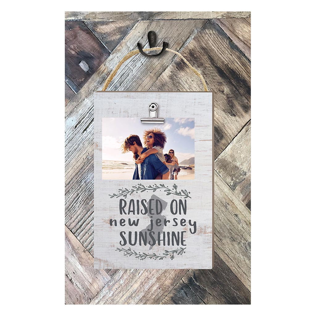 Raised on New Jersey Sunshine Hanging Clip Photo Frame