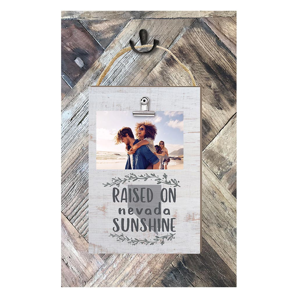 Raised on Nevada Sunshine Hanging Clip Photo Frame