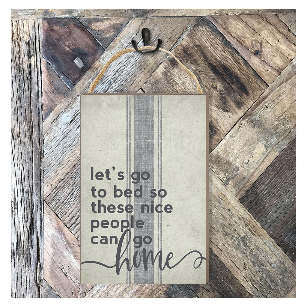 8x12 Lets Go to Bed Hanging Sign