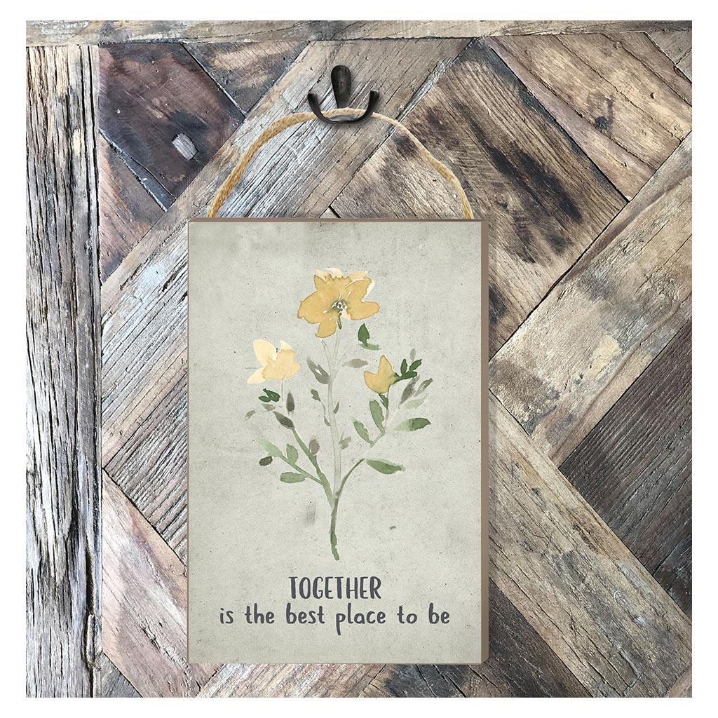 8x12 Together Best Place Hanging Sign