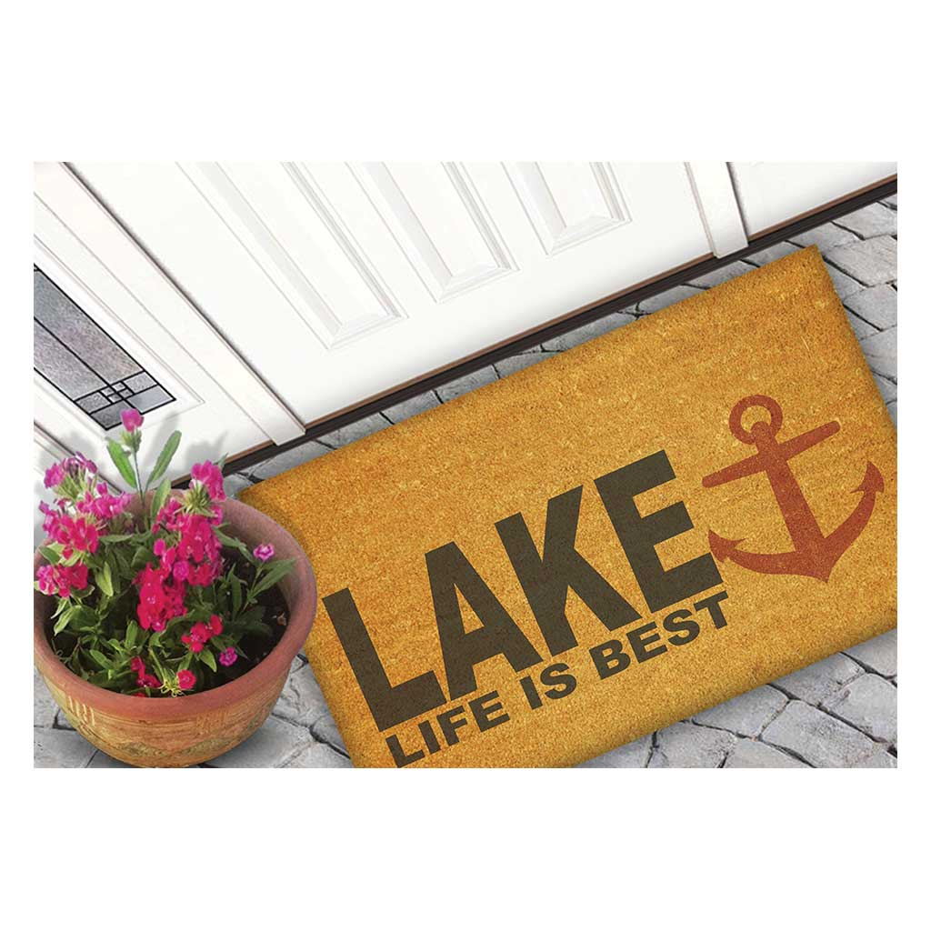 18x30 Coir Doormat Lake Life is Best Anchor