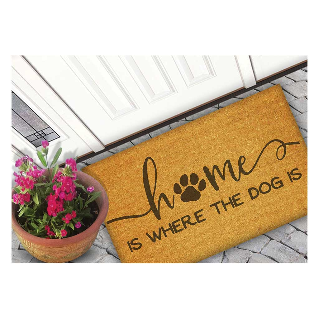 18x30 Coir Doormat Home is Where the Dog Is