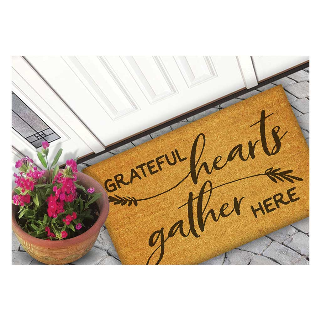 18x30 Coir Doormat Grateful Hearts Gather
