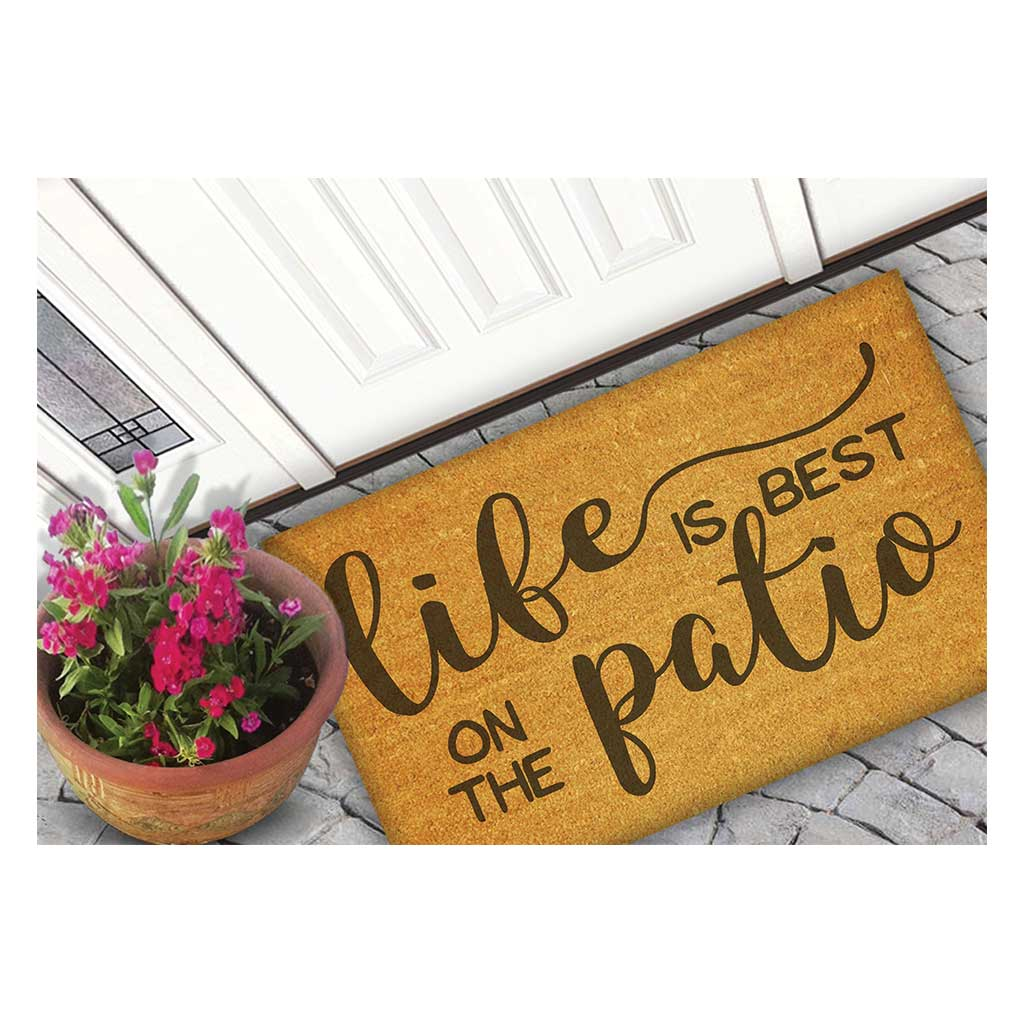 18x30 Coir Doormat Life is Better on the Patio