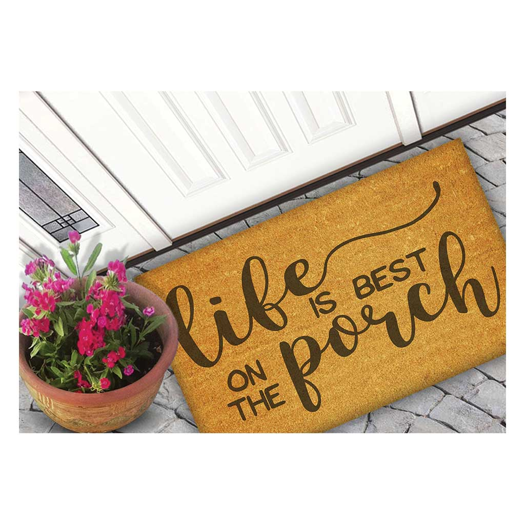 18x30 Coir Doormat Life is Better on the Porch