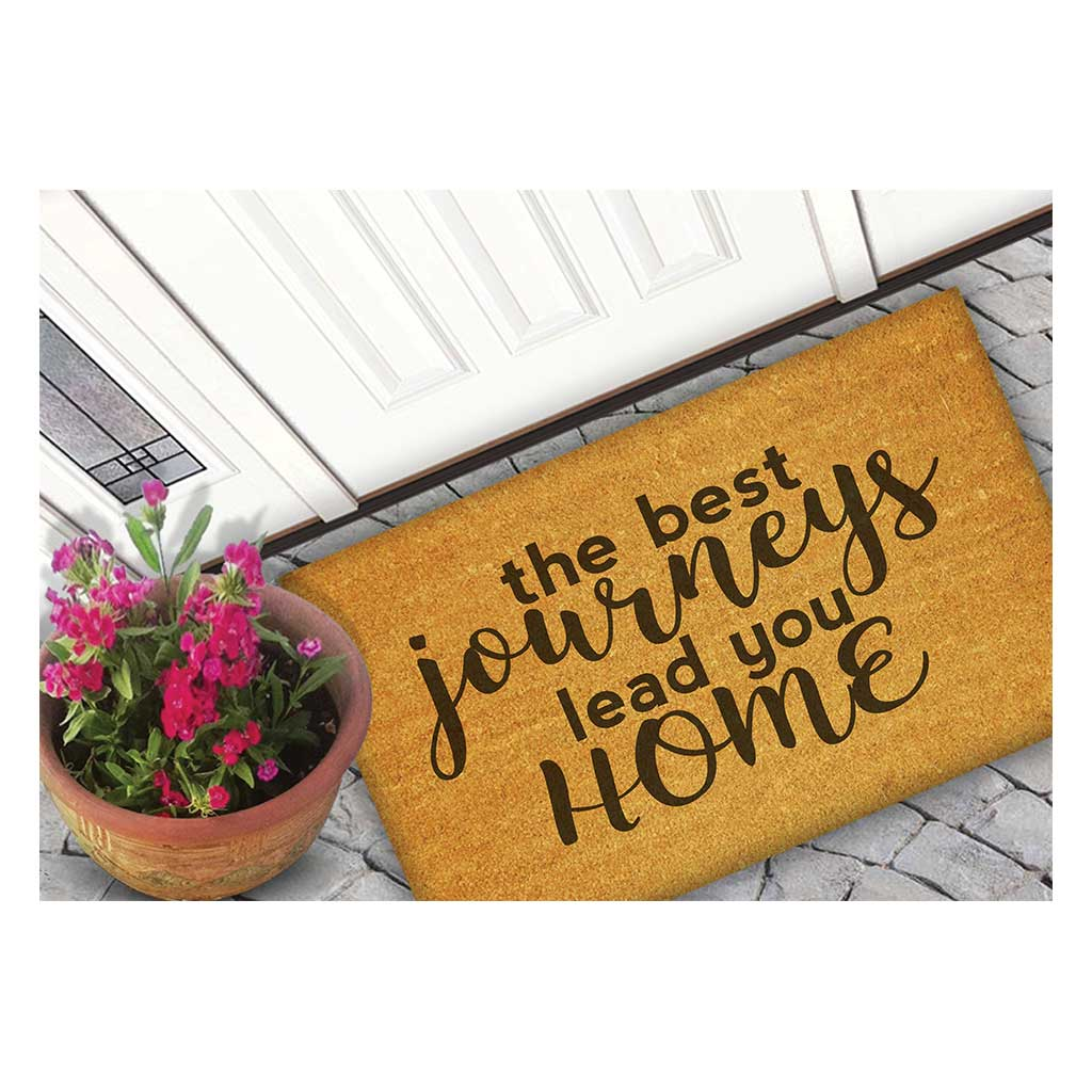 18x30 Coir Doormat Best Journeys Lead Home