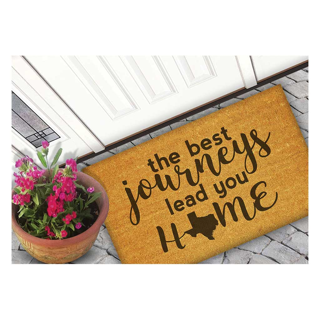 18x30 Coir Doormat Best Journeys Texas