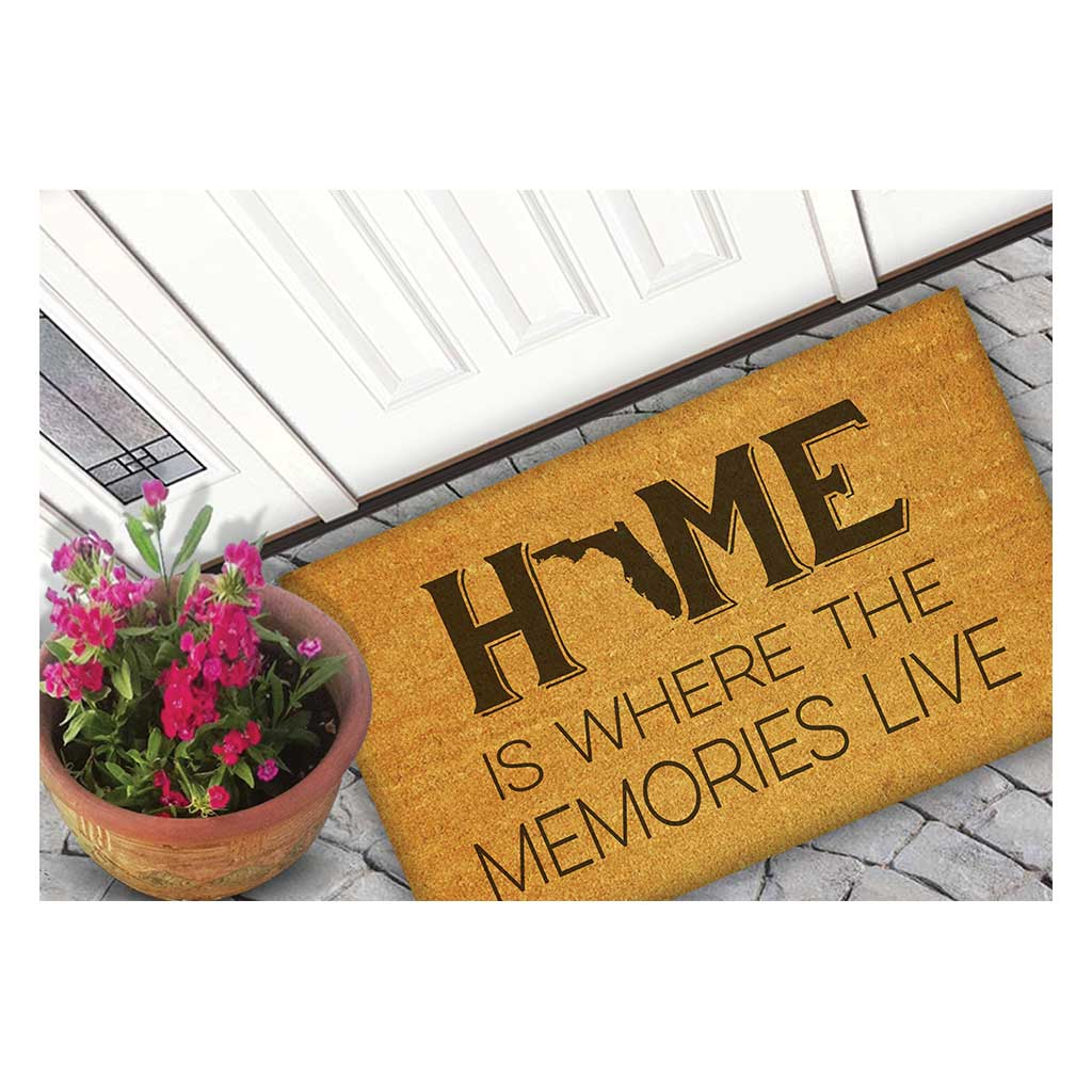 18x30 Coir Doormat Home Memories Live Florida