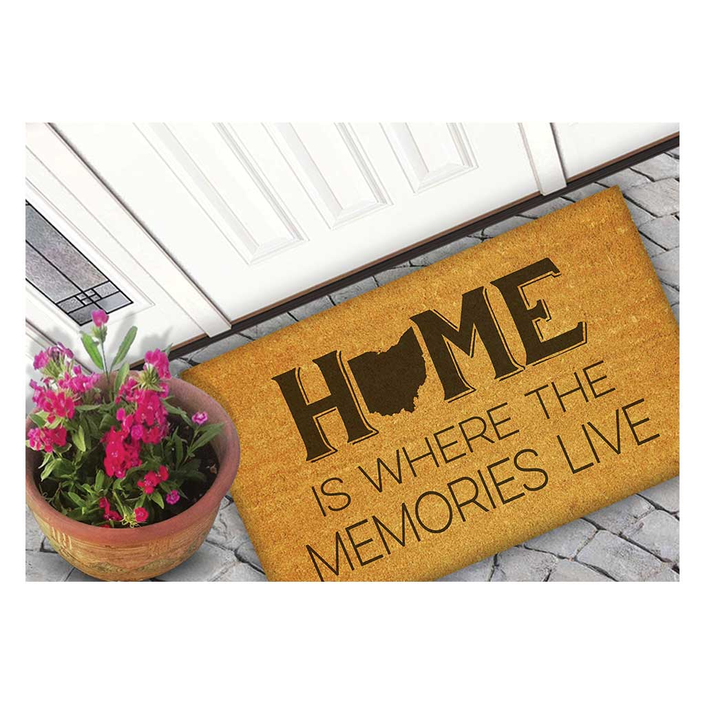 18x30 Coir Doormat Home Memories Live Ohio