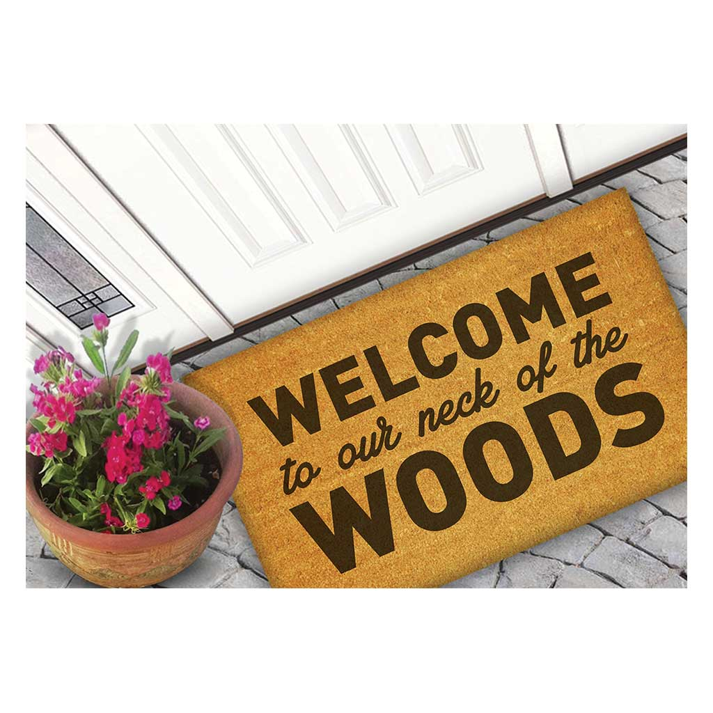 18x30 Coir Doormat Welcome Neck of the Woods