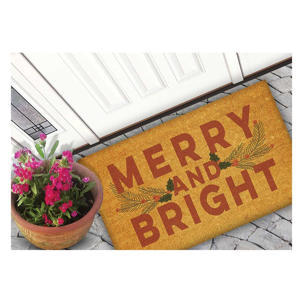 18x30 Coir Doormat Merry and Bright