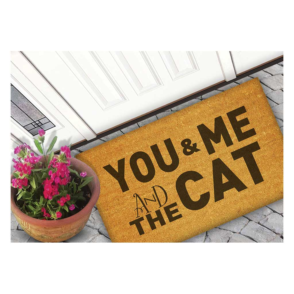 18x30 Coir Doormat You Me and the Cat