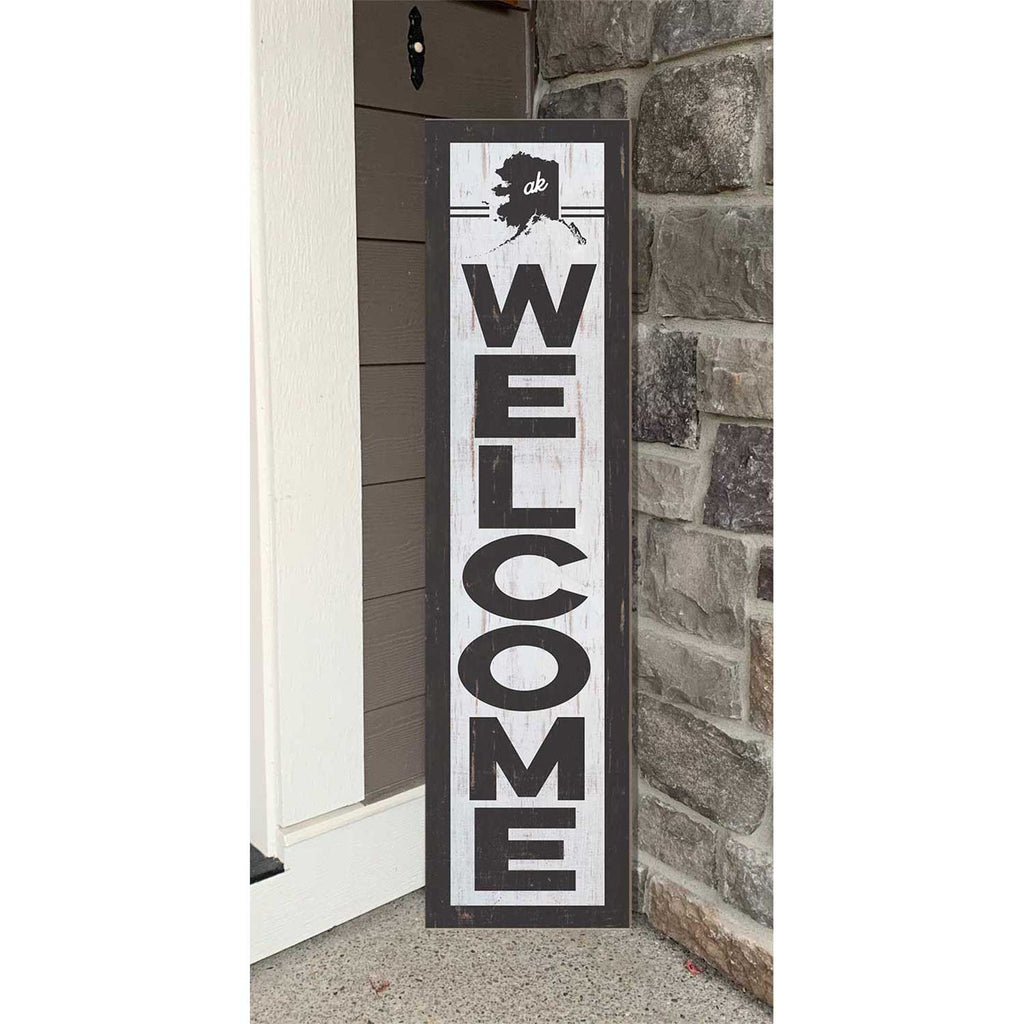 12x48 State Welcome Alaska Leaner Sign
