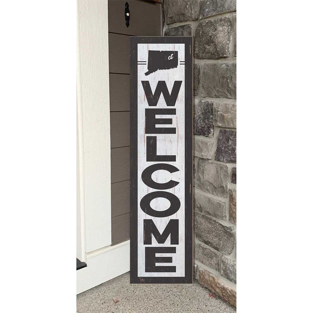 12x48 State Welcome Connecticut Leaner Sign