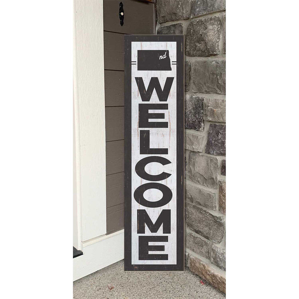 12x48 State Welcome North Dakota Leaner Sign