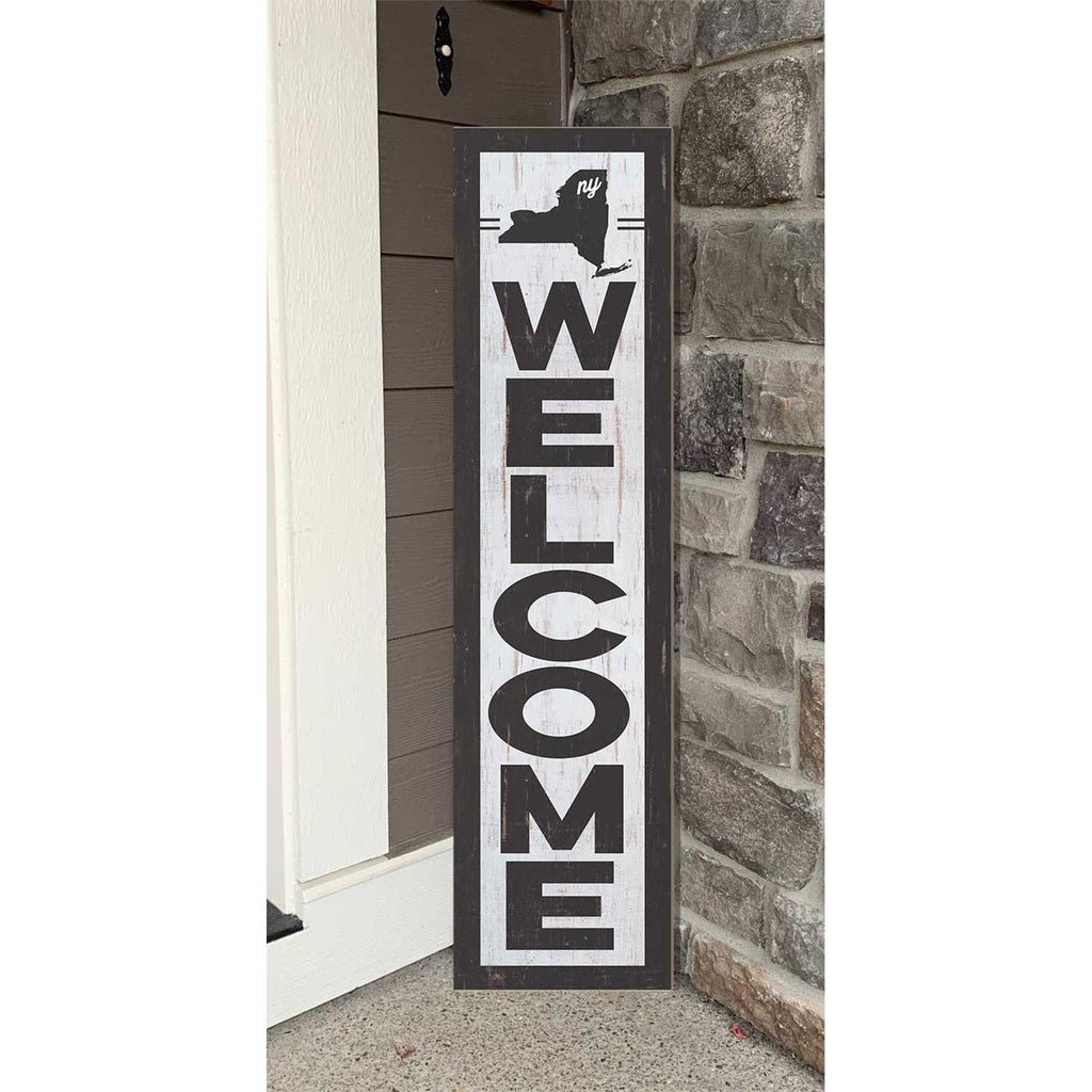 12x48 State Welcome New York Leaner Sign